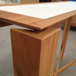 A small taste of Italian ebanisteria: the master carpenter made it only following our handmade drawings .
