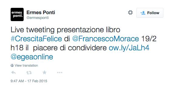 Crescita Felice di Francesco MOrace: live tweeting by ermesponti