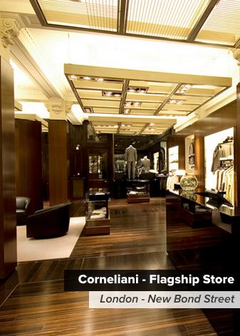 ermesponti bespoke interiors per Coneliani (Londra)