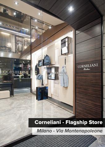 ermesponti bespoke interiors per Corneliani (Milano)