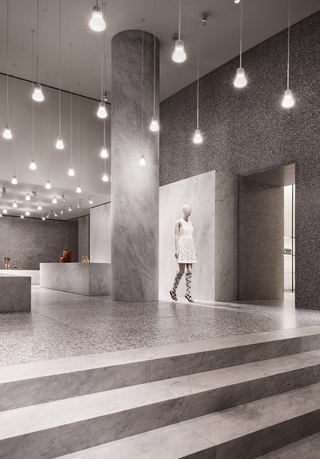 Rome's Valentino Showroom by Chipperfield Architects - From ermesponti's blog