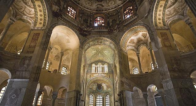 Le volte della Basilica di San Vitale a Ravenna