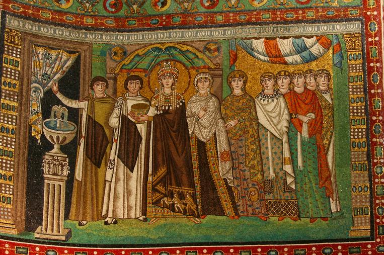 Mosaico alla Basilica di San Vitale a Ravenna