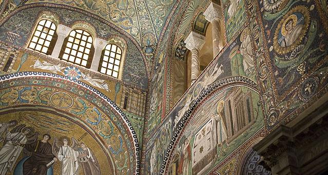 L'interno della Basilica di San Vitale (Ravenna)