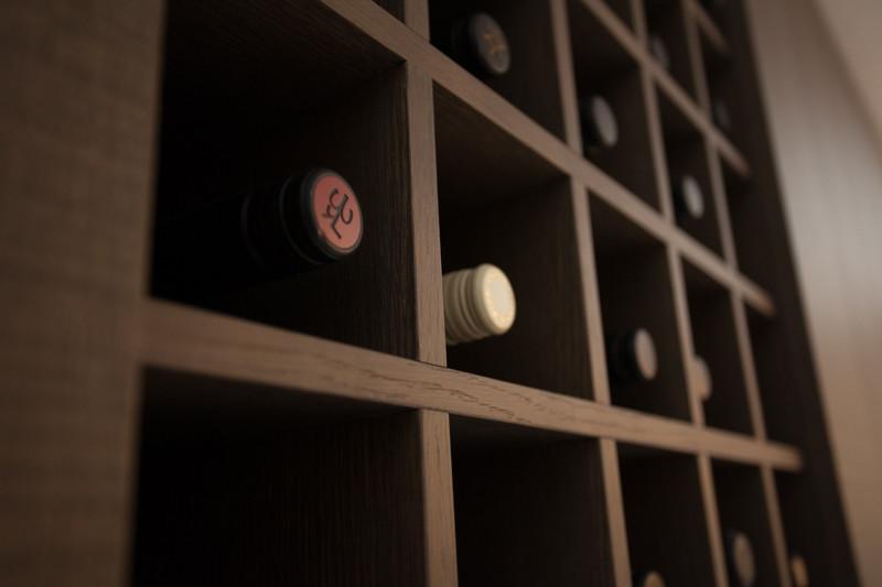 Wine cellar handmade by Ermesponti